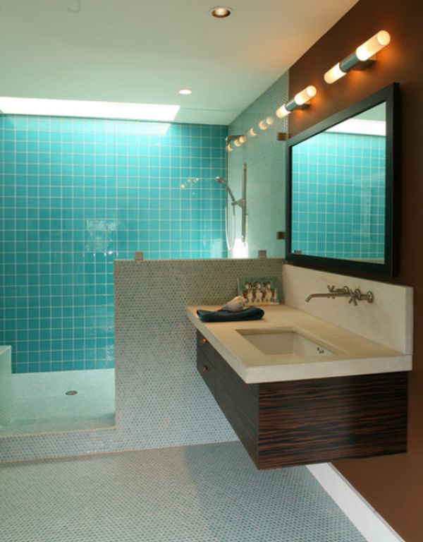 Floating Sink Cabinet And Matching Mirrors View