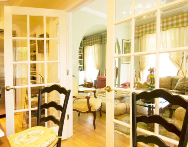Inside and out where to use french doors for Dining room ideas with french doors