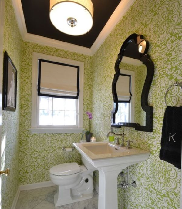 interesting black and green color combos used in interior décor