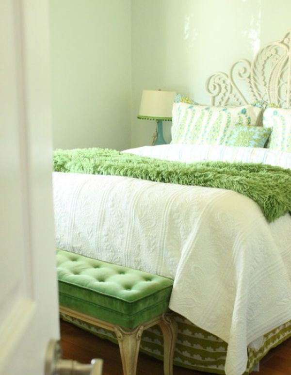 Fresh and relaxing green bedroom designs and ideas for Bedroom designs green