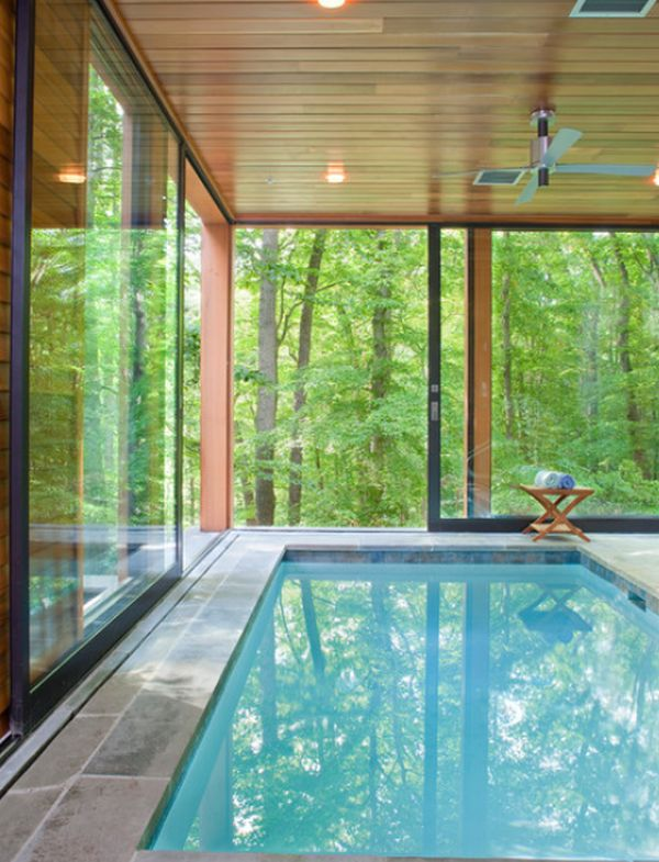 Private indoor pool  Beautiful, stunning indoor pools – refreshing reminders of the ...