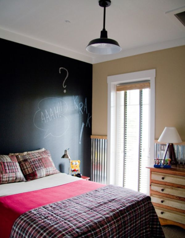 Chalkboard accent walls fun and functional great for all types of spaces for What type of paint to use on bedroom walls