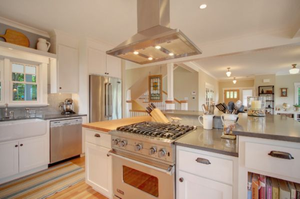 Kitchen Island Hoods stainless steel kitchen hood designs and ideas