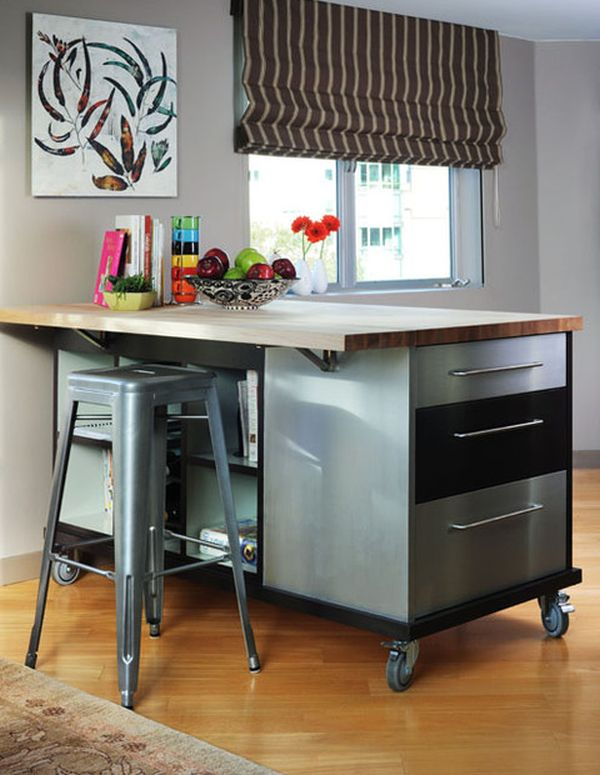 10 Practical, versatile and multifunctional rolling kitchen ...