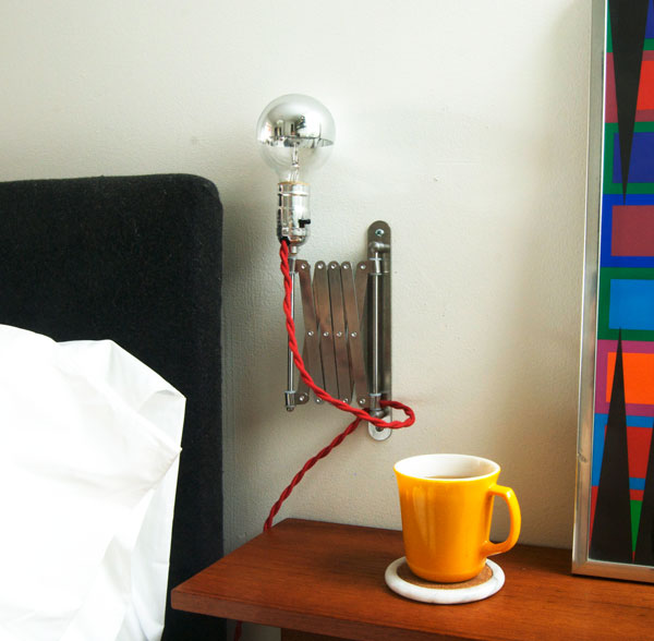 5 Simple And Inventive Diy Bedside Table Lamps Homedit