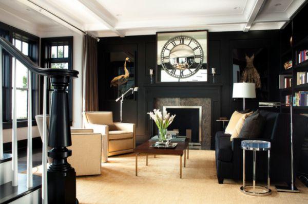Black living rooms.