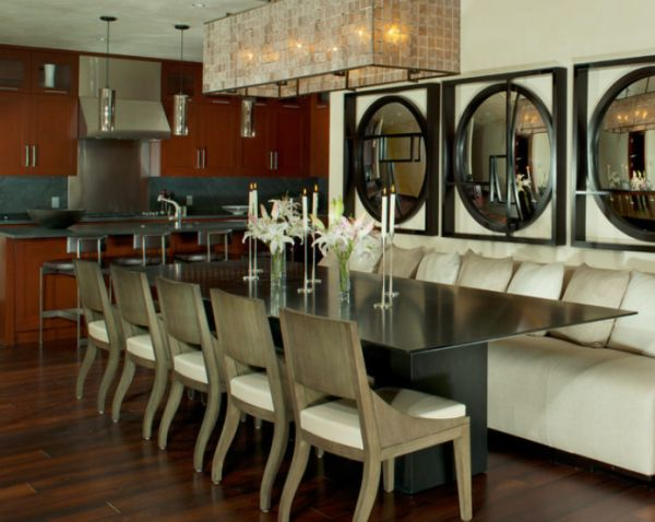 Long Dining Room Table Designs - Slender dining table