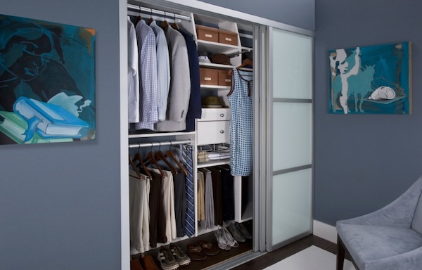 mens small closet idea