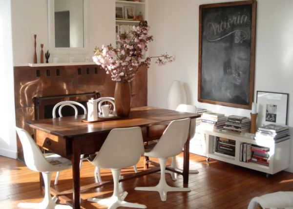 Mix styles for a unique customized interior - Tavoli da pranzo per piccoli spazi ...