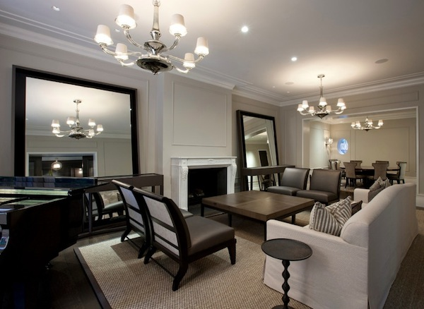 mirrors stand alone living room