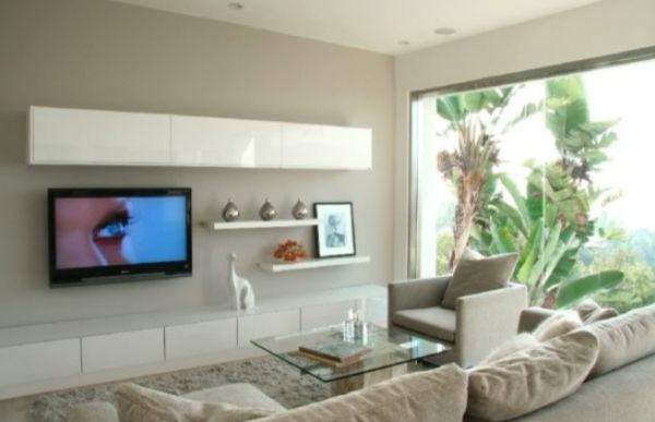 Modern Living Room Wall Mount Tv Design