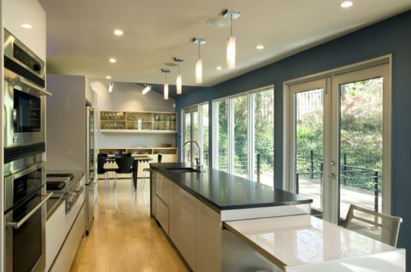 View In Gallery. This Contemporary Kitchen Is Also Long And Narrow.