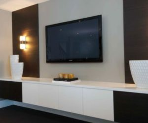 ... Interior Décor · Modern Living Room Wall Mount TV Design Ideas