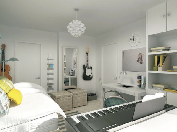 Captivating Strong Color Schemes. View In Gallery. Give Your Homeu0027s Music Room ... Part 15