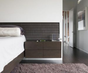 Simple, modern and space-saving floating nightstands for modern bedrooms