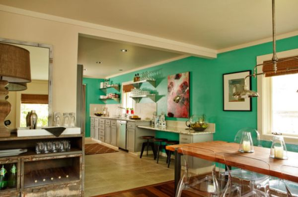 How to work with turquoise to create chic interior designs for Should i become an interior designer