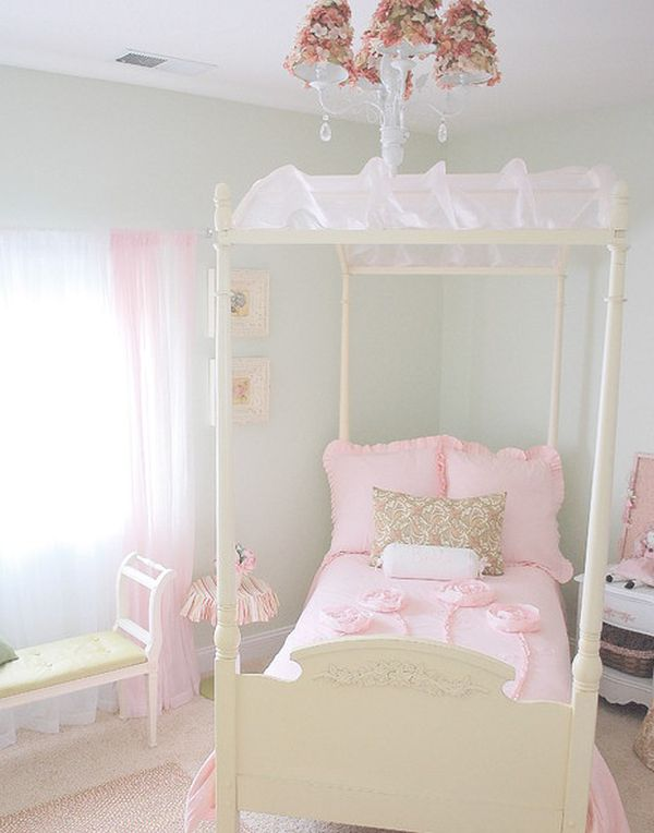 View In Gallery Delicate And Serene Girlu0027s Bedroom Featuring A Simple Canopy  ...