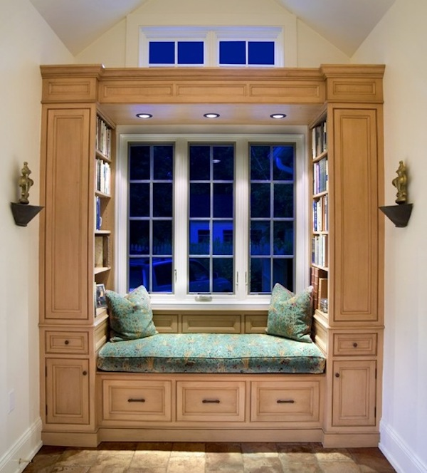 reading nook built in lighting