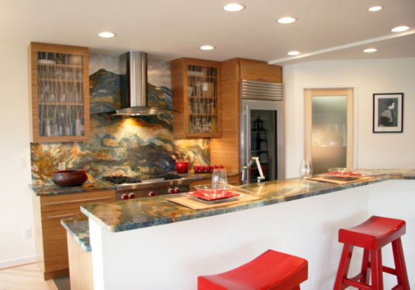 View In Gallery Asian Inspired Kitchen Featuring A Stainless Steel Hood ...
