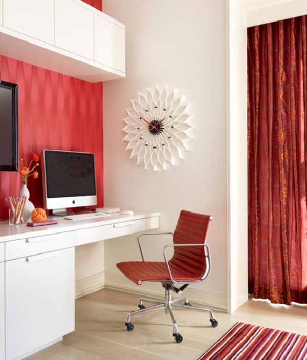 How to work with red to create vibrant and elegant decors - Elegant office home design ...