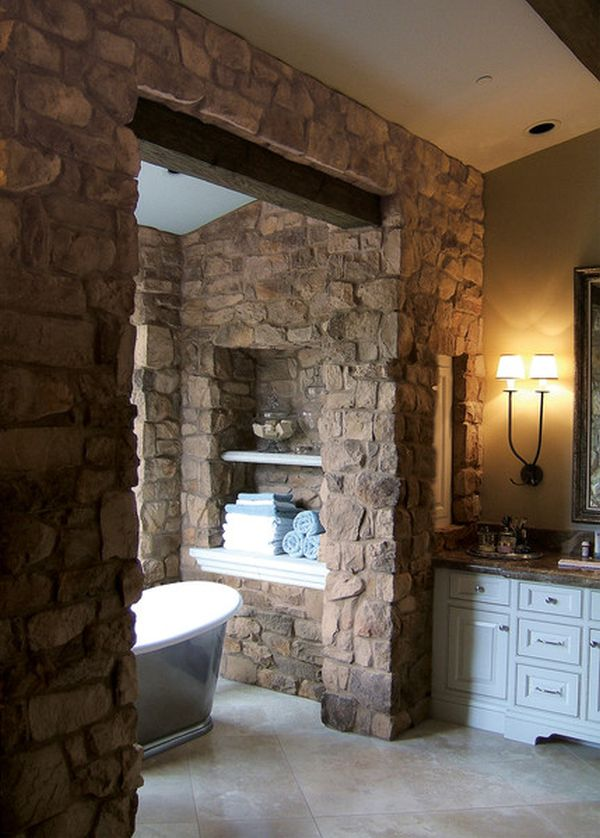 Beautiful, sumptuous stone bathrooms