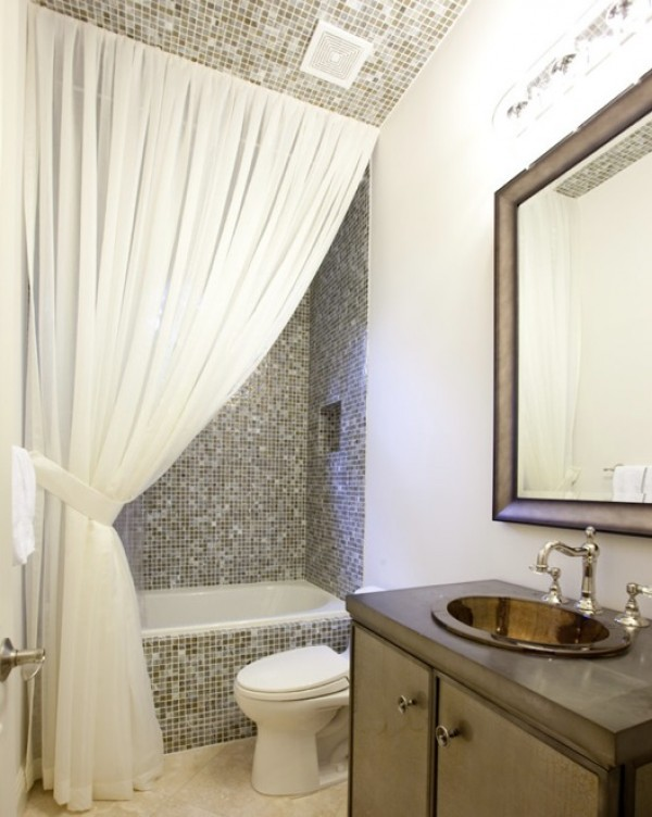Making Your Bathroom Look Larger With Shower Curtain Ideas - Curtain drapery ideas