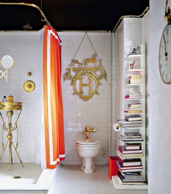 shower curtain orange