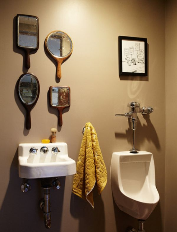 View In Gallery. Here Is A Completely Non Traditional Bathroom Mirror ...