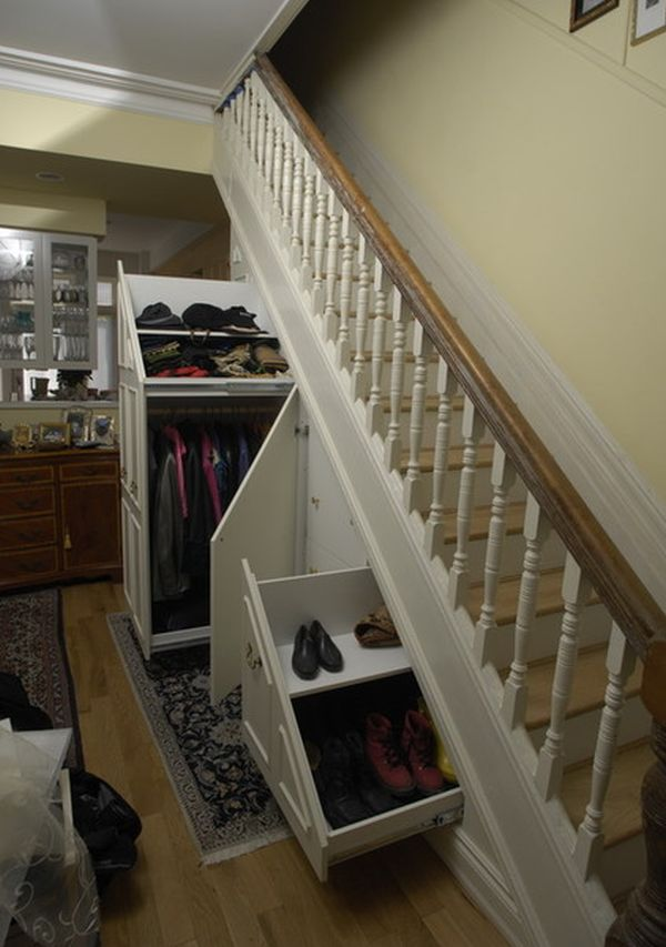 Stairwell Storage five ideas for using the space under a stairwell