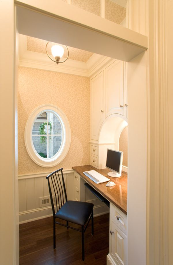 Inventive design ideas for small home offices for Home office decor pictures