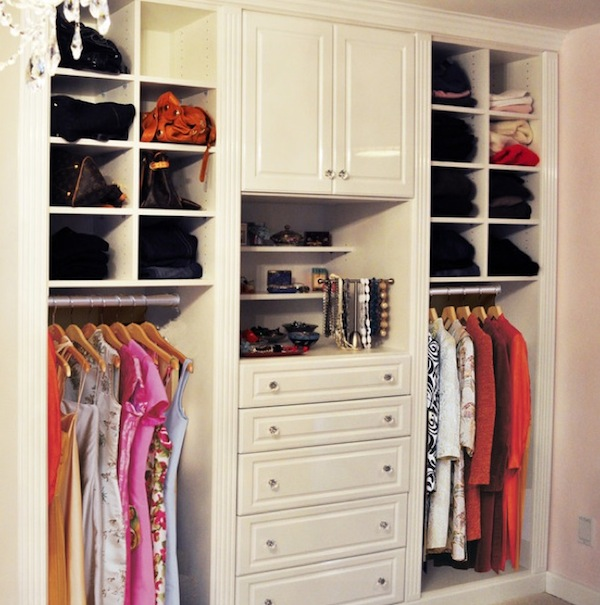small womans closet
