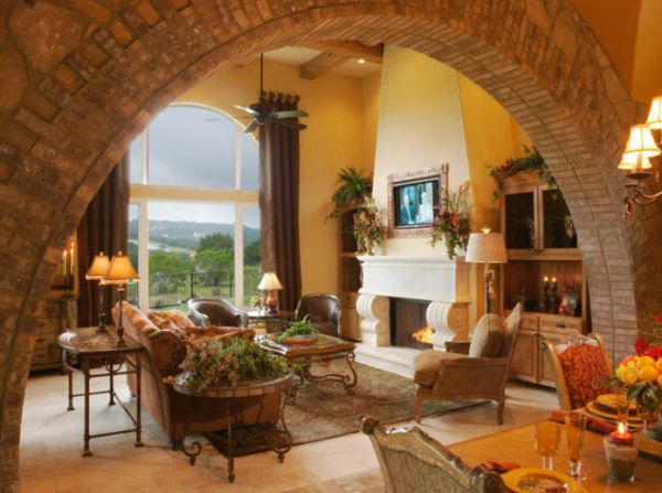 View in gallery  This Mediterranean living room features a different archway design Beautiful designs for elegant interiors