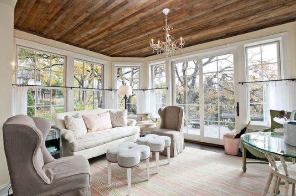 stylish decors featuring warm rustic beautiful wood ceilings
