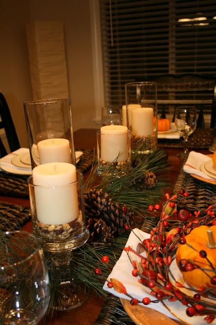 Thanksgiving dinner centerpieces