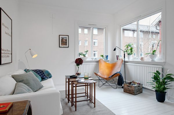 very small apartment.  Tiny Apartment With An Airy And Stylish Interior