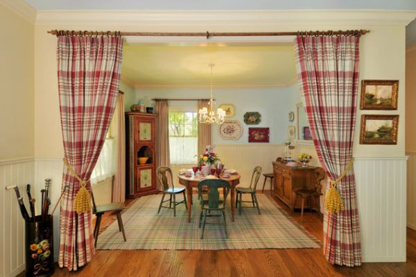 View In Gallery Elegant Dining Room With A Large Arched Window And Exposed  Beams View ...