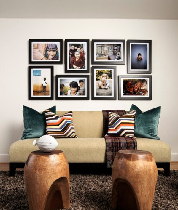 Add some travel flair to your home s interior d cor - Picture wall ideas for living room ...