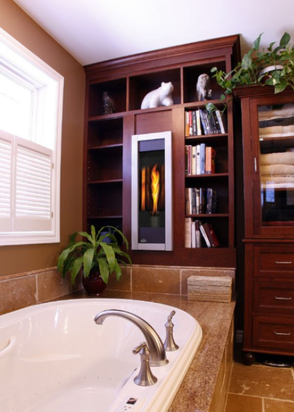 Bathroom Fireplaces U2013 A Luxurious And Welcomed Accent Feature