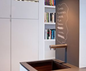 Chalkboard accent walls – fun and functional, great for all types of spaces