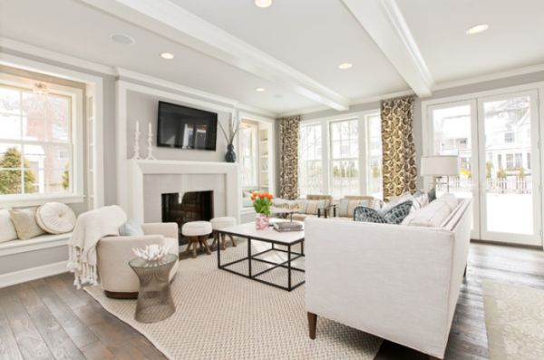 Sparkling white walls that can make a room shine and stand out Pictures of white living rooms