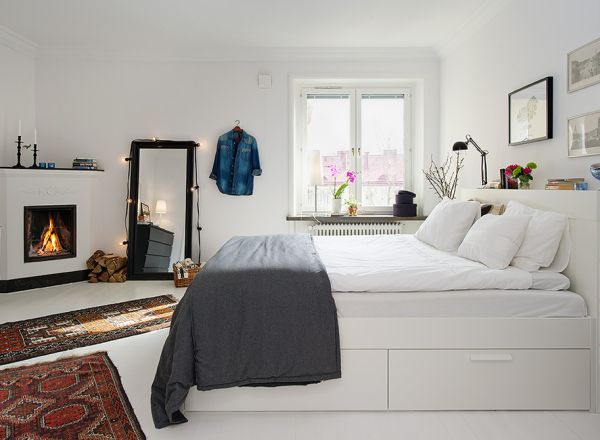 35 scandinavian bedroom ideas that looks beautiful modern for Beautiful bedroom ideas for small rooms