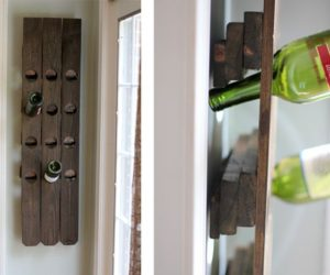 DIY wine racks – a little bit of warmth and natural beauty for your home