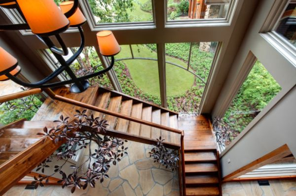 Beautiful 10 Simple, Elegant And Diverse Wooden Staircase Design Ideas