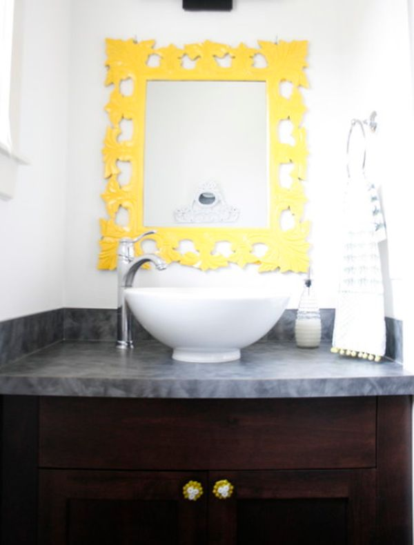 Charming Lacquer Vanity Mirror · View In Gallery Design Ideas