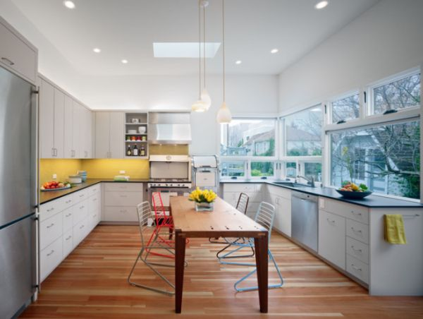 excellent white kitchen yellow accents | 5 Beautiful Color Schemes Suitable For The Kitchen