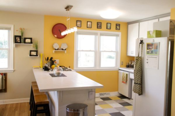 Happy paint colors for a cheerful home for Blue and yellow kitchen decorating ideas