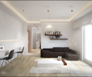 A 40 square meter flat with a clever and spacious interior décor by Pressenter Design