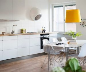 Stylish apartment in Sweden with a modern design and just a hint of yellow