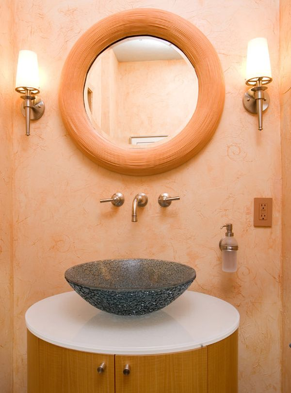 Decorating a peach bathroom ideas inspiration for Bathroom decor designs