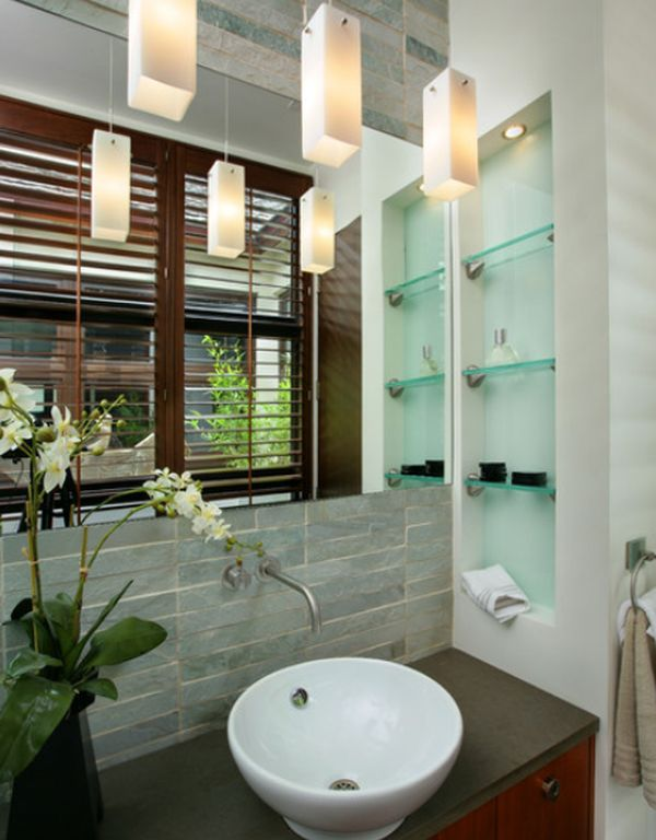 sleek functional and versatile glass shelving designs for stylish homes - Bathroom Glass Shelves